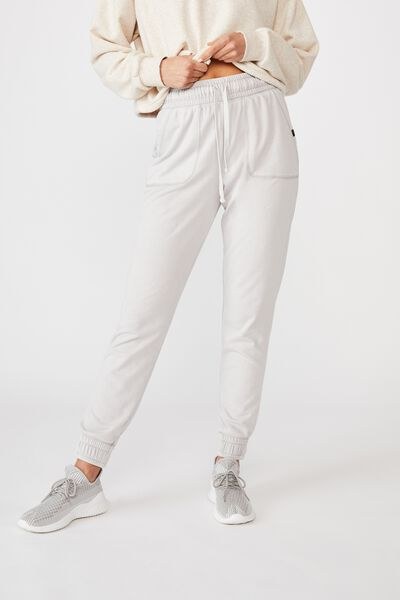 Washed Gym Trackpant, DOVE GREY WASH
