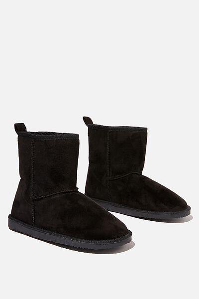 Hallie Short Home Boot, BLACK