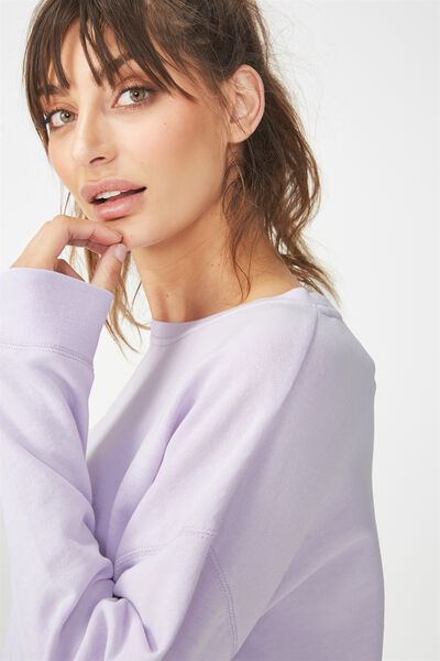 Active Crew Long Sleeve Top, ICY LILAC