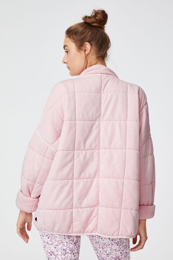 Quilted Zip Through Jacket, PINK SHERBET