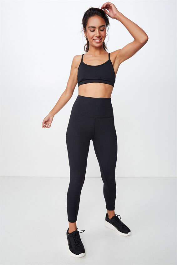 Active High Waist Core 7/8 Tight, BLACK