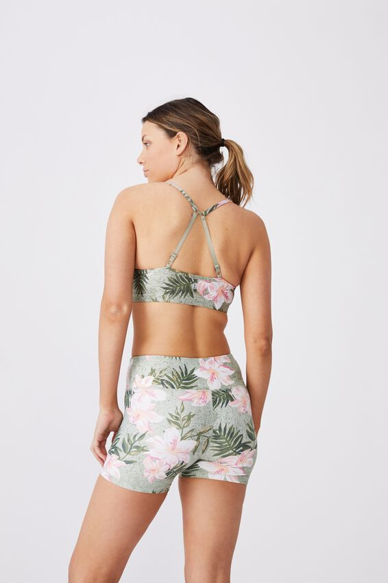 Highwaisted Shortie Short, PAINTED TROPICAL