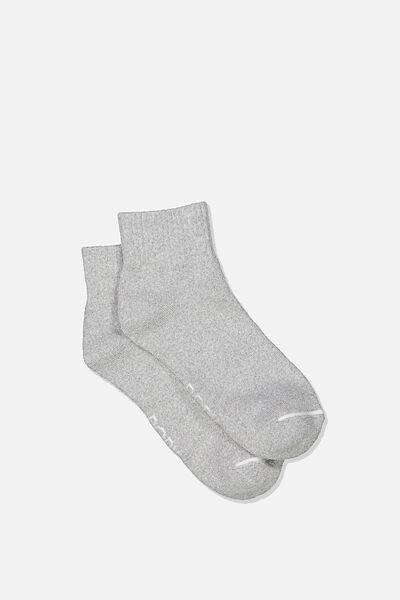 Reggie Sports Low Crew Sock, GREY