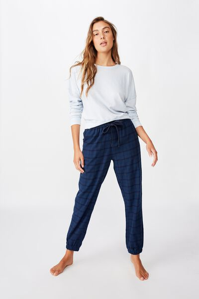 Flannel Sleep Pant, SIMPLE NAVY CHECK