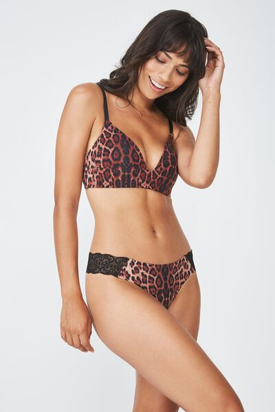 Party Pants Seamless G-String Brief, TRUE LEOPARD