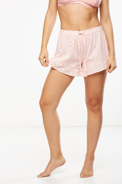 Textured Bedtime Shortie, SWEET PINK