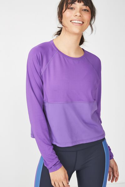 Training Long Sleeve Top, MULBERRY
