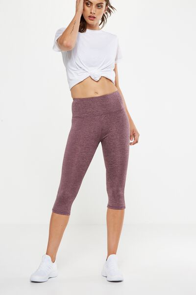 Run It Capri Tight, THISTLE MAUVE MARLE