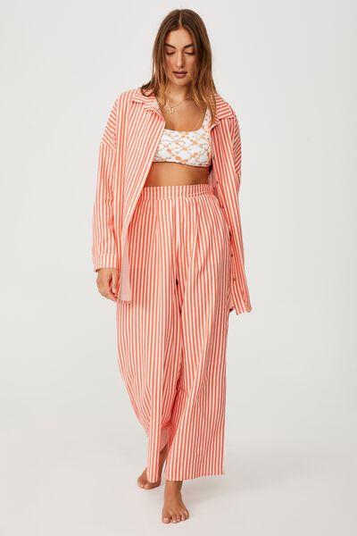 Swing Beach Shirt, POMEGRANATE/SANDCASTLE STRIPE