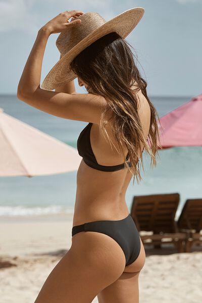 Seamless Brazilian Bikini Bottom, BLACK