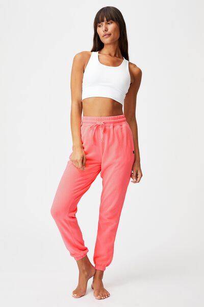 Lifestyle Gym Track Pant, SALMON ROSE WASH