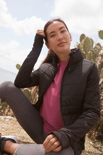 Active Slimline Puffer Jacket, BB BLACK