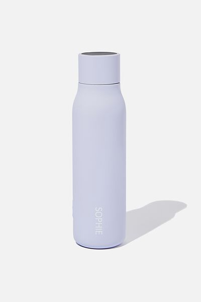 Personalised Hydrate Me Drink Bottle, CHALKY LAVENDAR