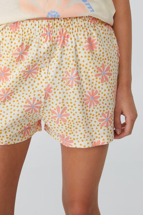 Jersey Button Boxer Short, SPOTTY FLORAL