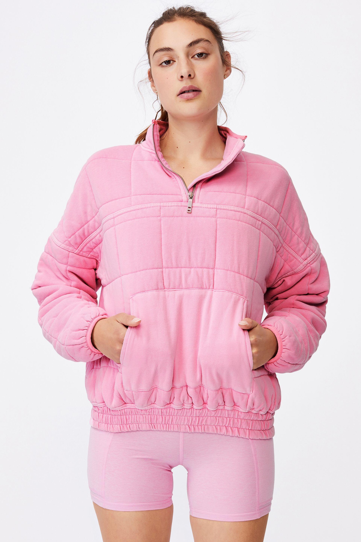 Quilted Zip Through Fleece   Cotton On