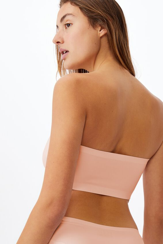 Everyday Bonded Bandeau, PEACH PARAFAIT