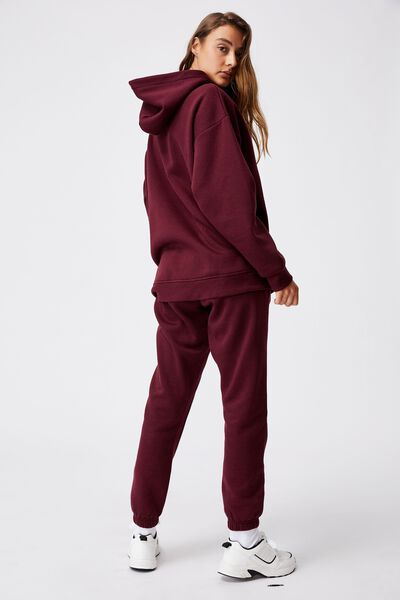 Lifestyle Oversized Hoodie, MULBERRY