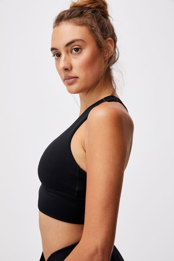 Ultimate Longline Crop, BLACK