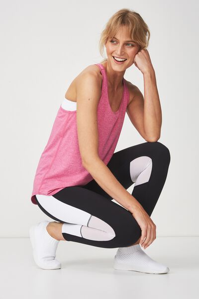 Training Tank Top, CONFETTI PINK MARLE