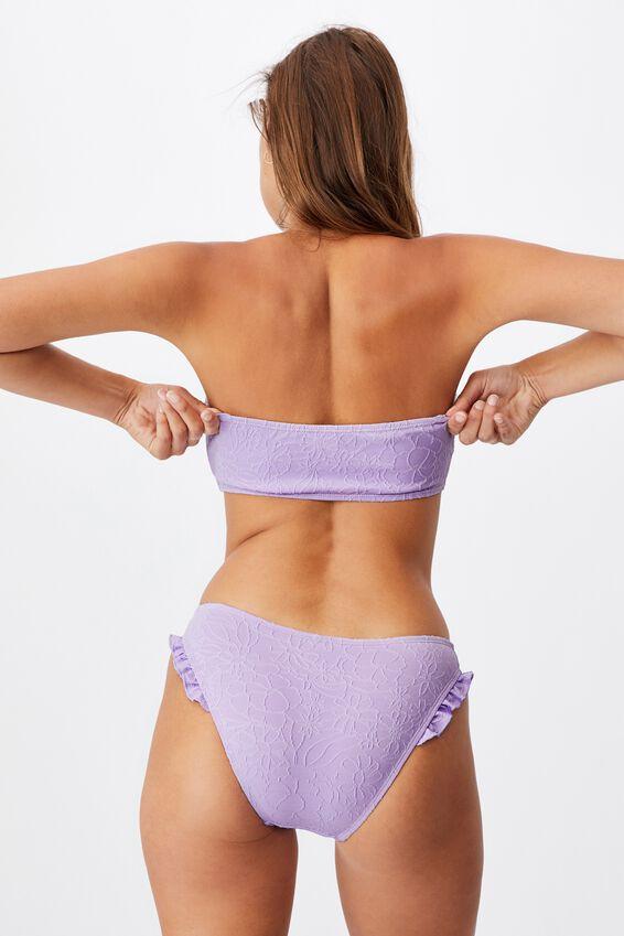 Midi Bandeau Bikini Top Jacquard, ORCHID MIST JACQUARD