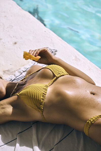 Slider Triangle Bikini Top Texture, FALL ORANGE TEXTURE