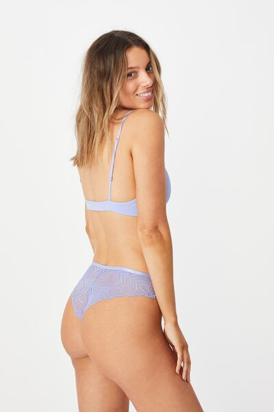 Summer Lace Brasiliano Brief, CORNFLOWER LILAC