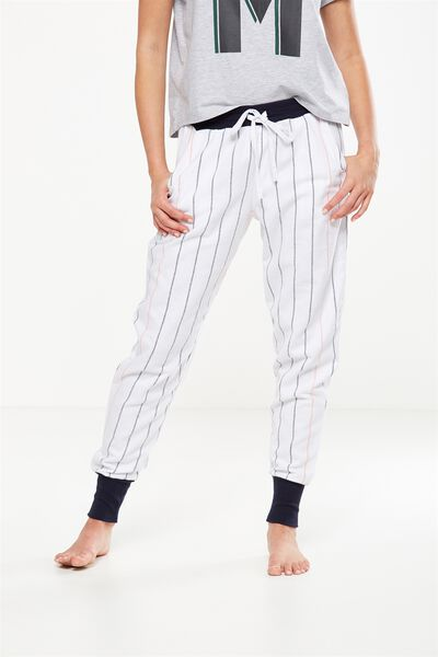 Cuffed Flannel Pant, WINTER WHITE STRIPE
