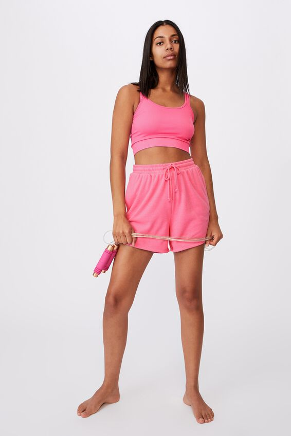 Lifestyle On Ya Bike Fleece Short, AURORA PINK MARLE