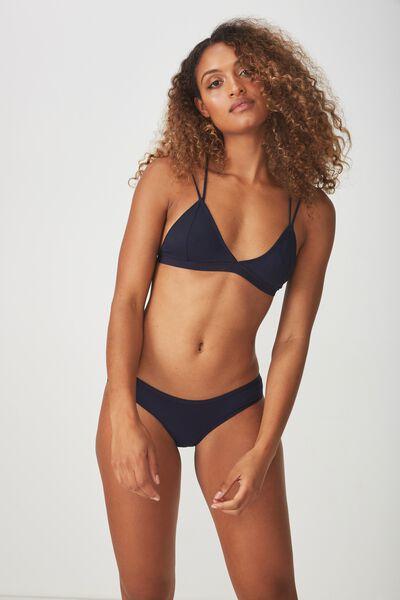 Cotton Flat Elastic Cheeky Bikini Brief, MIDNIGHT