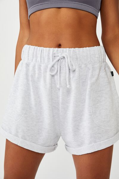 Summer Fleece Short, GREY MARLE