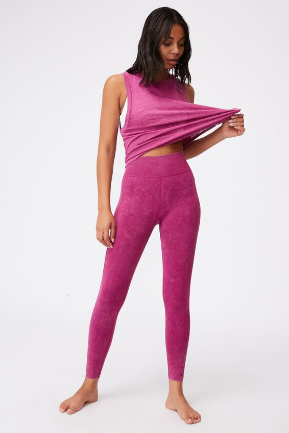 Lifestyle Seamless 7/8 Yoga Tight, BOYSENBERRY WASH