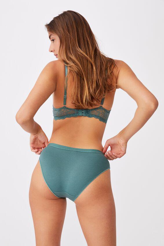 Cotton Bikini Brief, BONSAI GREEN
