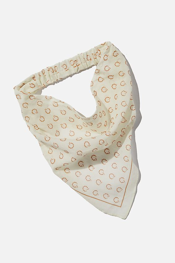 Back To Nature Bandana Scarf, ALMOND BUTTER PAISLEY SPOT