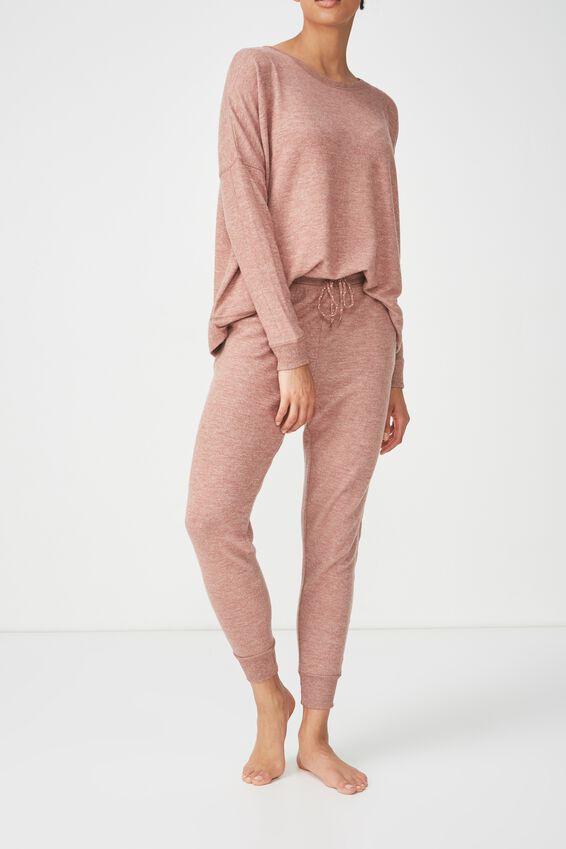Super Soft Slim Fit Pant, NUTMEG MARLE