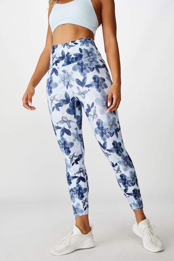 So Soft Marle 7/8 Tight, BLUE LAYERED FLORAL
