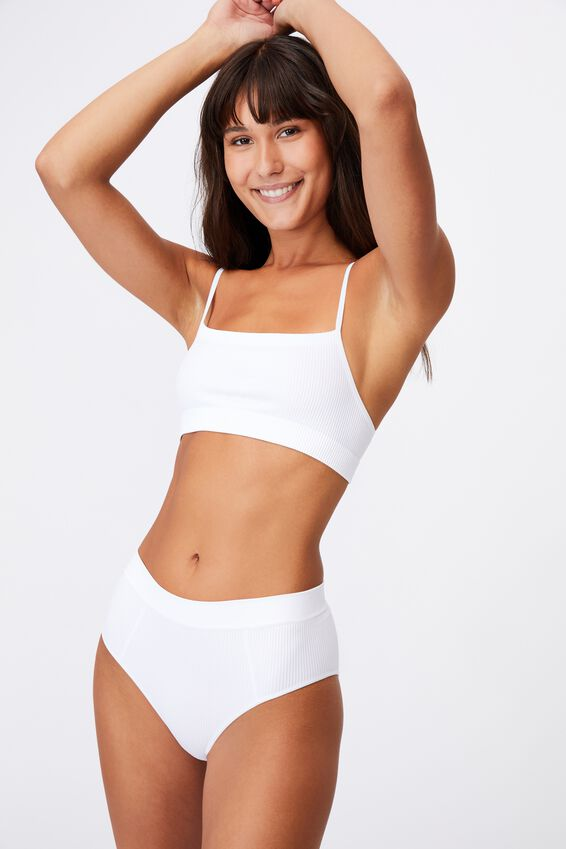 Seamfree Mumdie Bikini Brief, WHITE