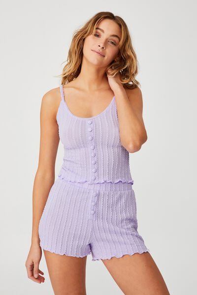 Knit Bed Tank, CHALKY LAVENDER
