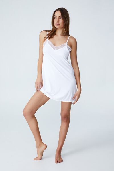 After Party Slinky Nightie, WHITE