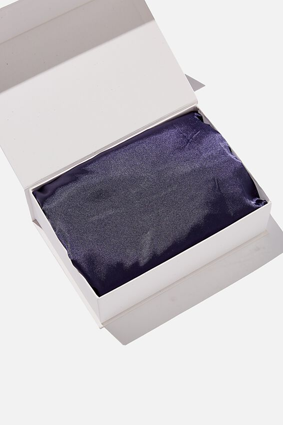 Satin Tanning Bag, TRUE NAVY