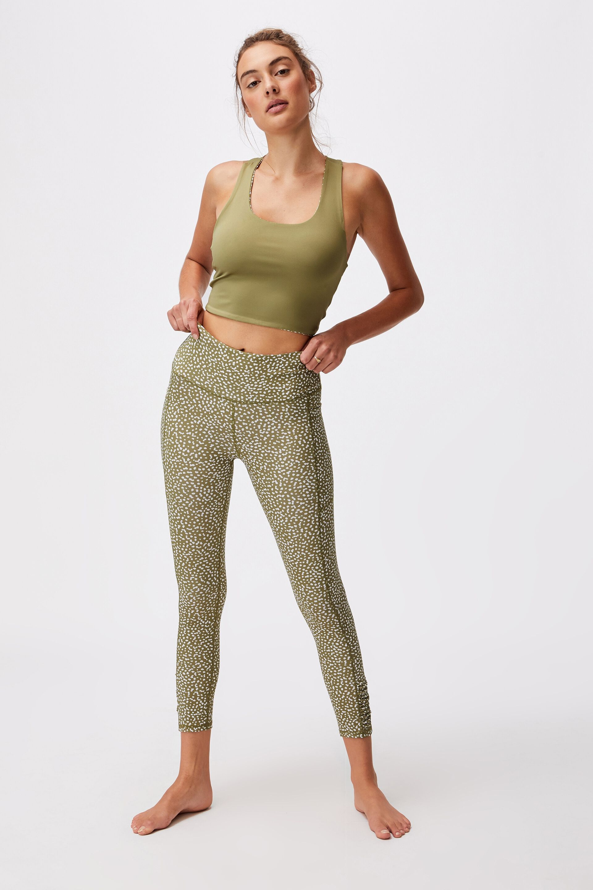 Love You A Latte 7/8 Active Tight   Cotton On