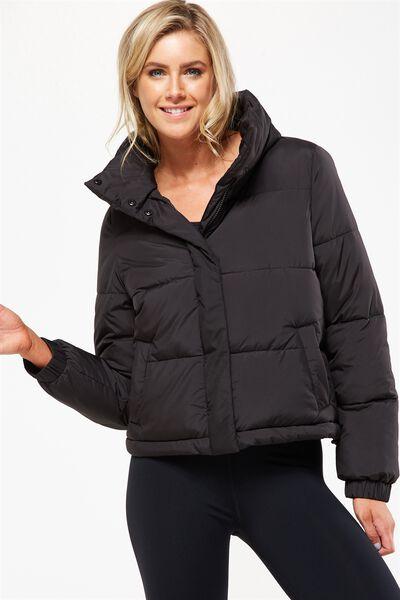 Explorer Puffer Jacket, BLACK