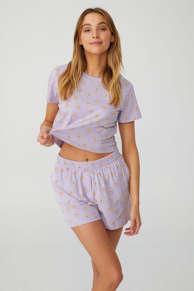 Baby Sleep T-Shirt, LITTLE DAISY/LILAC DREAM