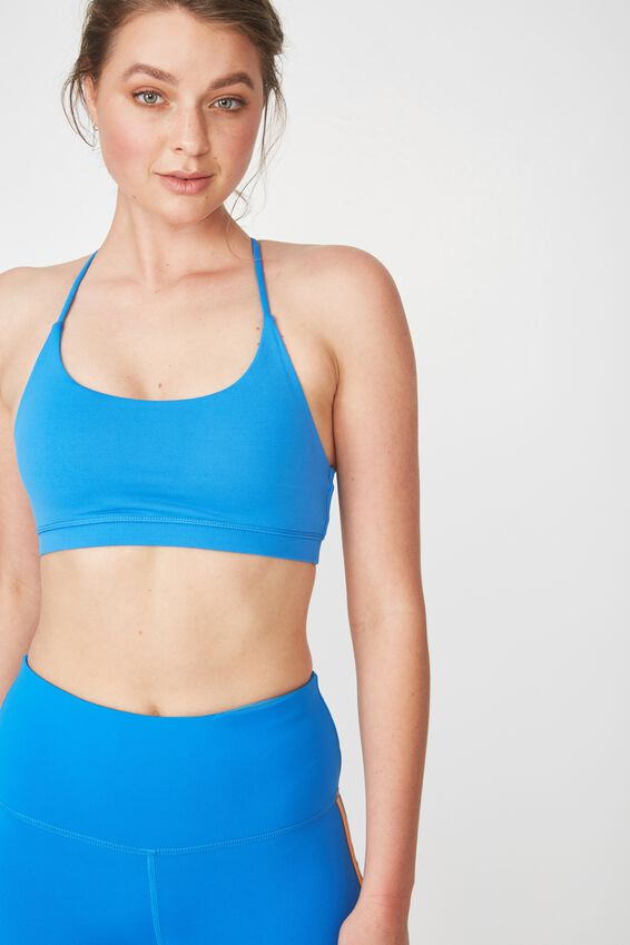 Essential Strappy Sports Crop, ELECTRIC BLUE