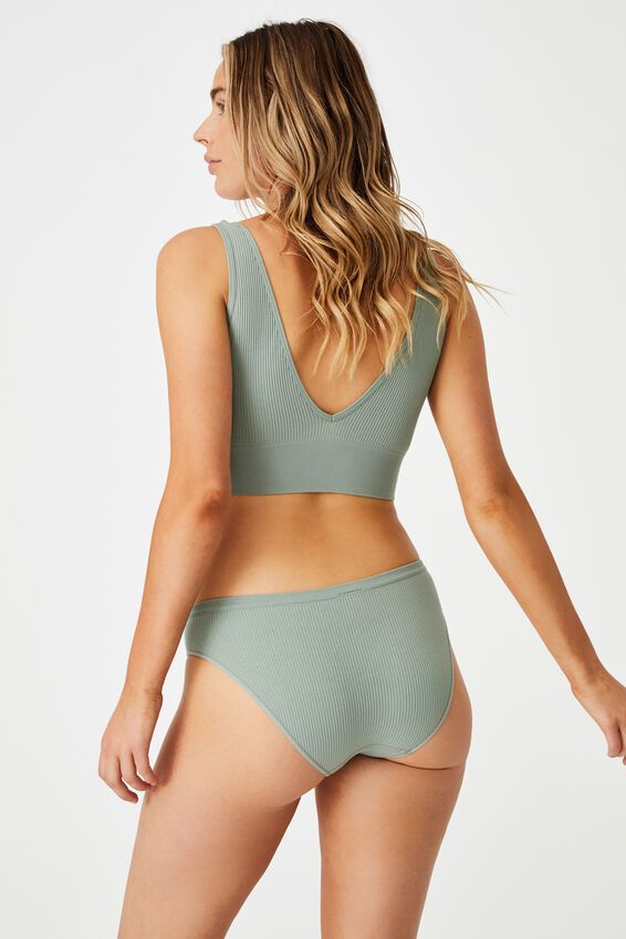 Seamfree Bikini Brief, DESERT SAGE