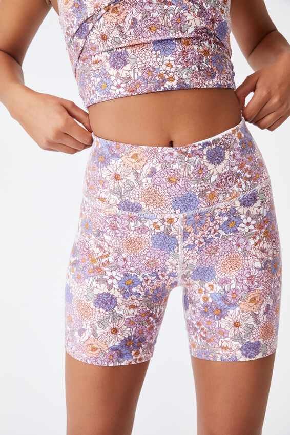 So Peachy Bike Short, SUMMER SKETCHED FLORAL