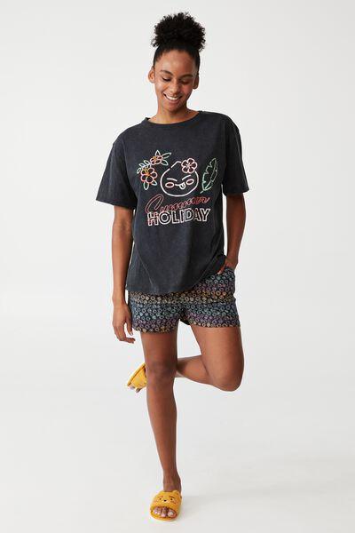 License Jersey Relaxed T-Shirt And Short Set, LCN KAKAO/RAINBOW SET