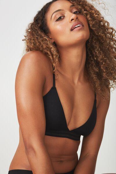 Sporty Femme Bralette, BLACK