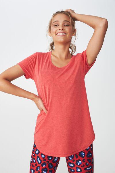 Gym T Shirt, DESERT RED