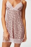 Slinky Nightie, LAYERED SPOT SOFT PINK