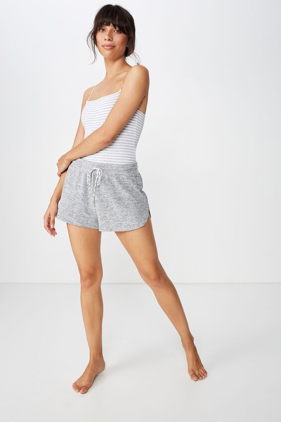 Cotton Comfies Bodysuit, GREY MARLE STRIPE